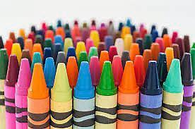 Цветные восковые мелки карандаши
