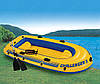 Трехместная надувная лодка Intex + алюминиевые весла и ручной насос Challenger 3 Set 295x137x43 cм (68370), фото 2