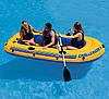 Трехместная надувная лодка Intex + алюминиевые весла и ручной насос Challenger 3 Set 295x137x43 cм (68370), фото 3