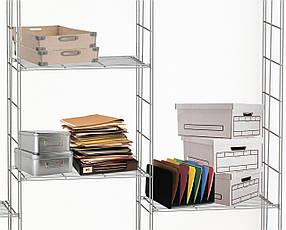Полка 630х355 мм. Проволочная гардеробная система Kolchuga. (офисное хранение, стелаж), фото 3