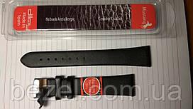 Ремінець для годинника з шкіри Mustang Premium 20 мм, сталева бакля