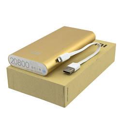 Внешний аккумулятор Xiaomi MI Power Bank 20800 mAh (USB 2,1A) золотистый
