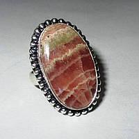 Овальное кольцо с родохрозитом , размер 17,3 от студии LadyStyle.Biz, фото 1