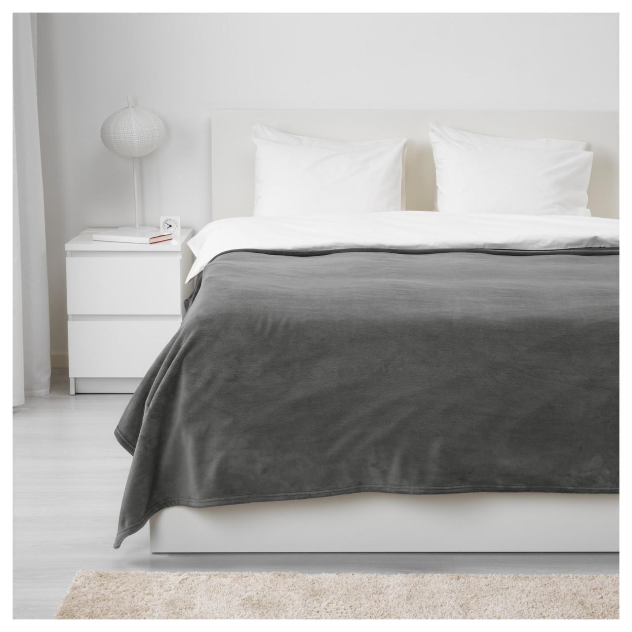 ТРАТТВИВА Покрывало, серый, 230x250 см 70349681 IKEA, ИКЕА, TRATTVIVA