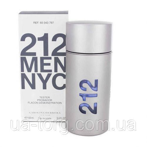 Тестер мужской Carolina Herrera 212 men NYC (Каролина Эррера 212 Мэн),100 мл