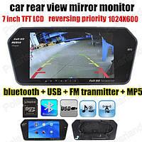 Зеркало заднего вида с цветным МОНИТОРОМ 7 + пульт+USB+Bluetooth, фото 1