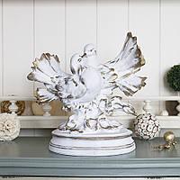 Фигура пара голубей 25*25*17 см Гранд Презент СП303-2 золото
