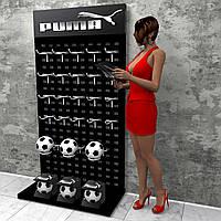 Торговые стойки перфорированные ⚠️ Puma - для спортивных аксессуаров
