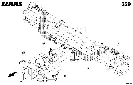 HYDR. PIPE; REAR WHEEL DRIVE AXLE - CLAAS TUCANO 330 / 320