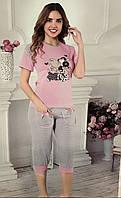 Комплект для сна женский 12207 футболка и бриджи
