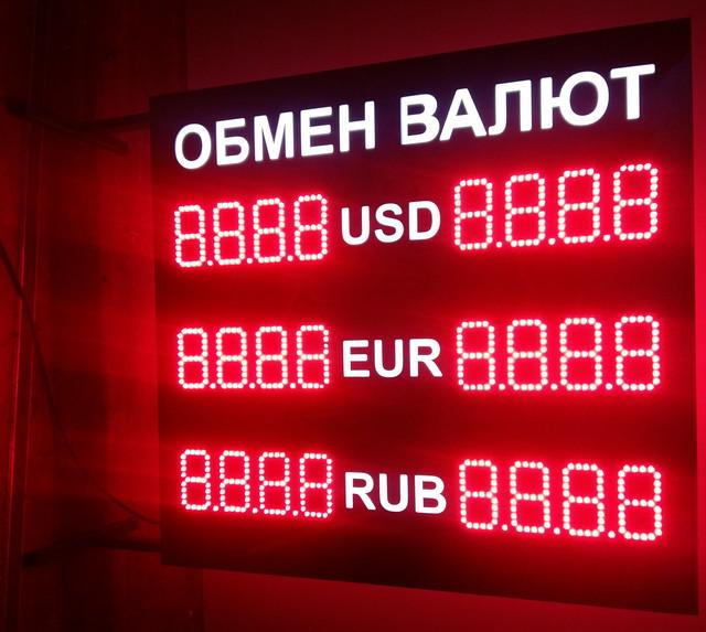 Светодиодное табло обмена валют