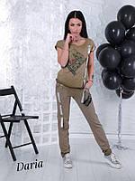 Женский брючный костюм из нежного коттона-варёнки 42-48 р