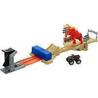 """Игровой набор трек """"Бешеный Бык"""" Hot Wheels Monster Jam El Toro Loco Showdown Play Set"""