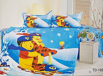 Детское сатиновое постельное белье Elway 3D TD-199