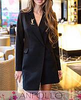 Женский короткое деловое платье пиджак, фото 1