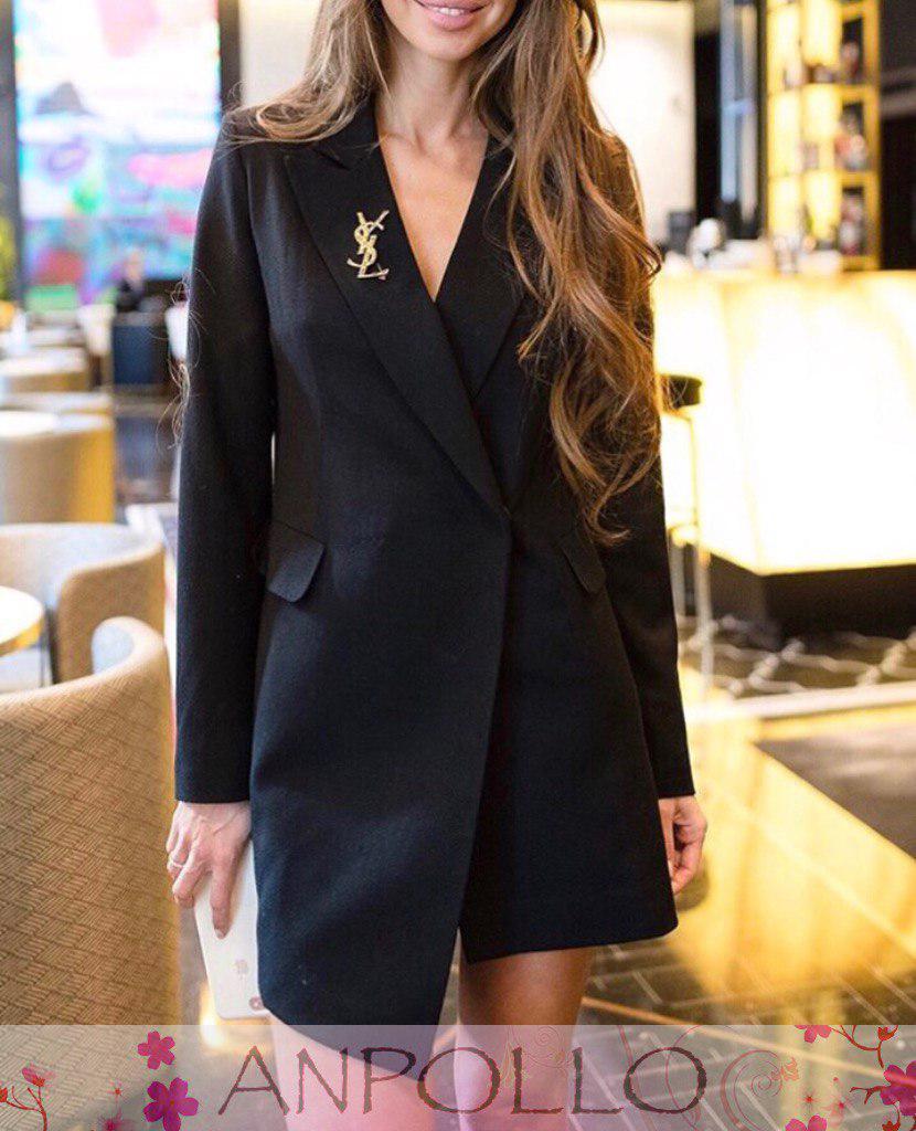 Женский короткое деловое платье пиджак