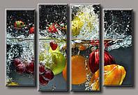 Картина модульная HolstArt Ягоды и фрукты 72*105см 4 модуля арт.HAF-144