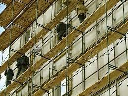 Монтаж строительных лесов