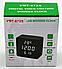 Электронные часы VST-872-S в деревянном корпусе с датчиком влажности, фото 4