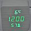 Электронные часы VST-872-S в деревянном корпусе с датчиком влажности, фото 5