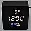 Электронные часы VST-872-S в деревянном корпусе с датчиком влажности, фото 2