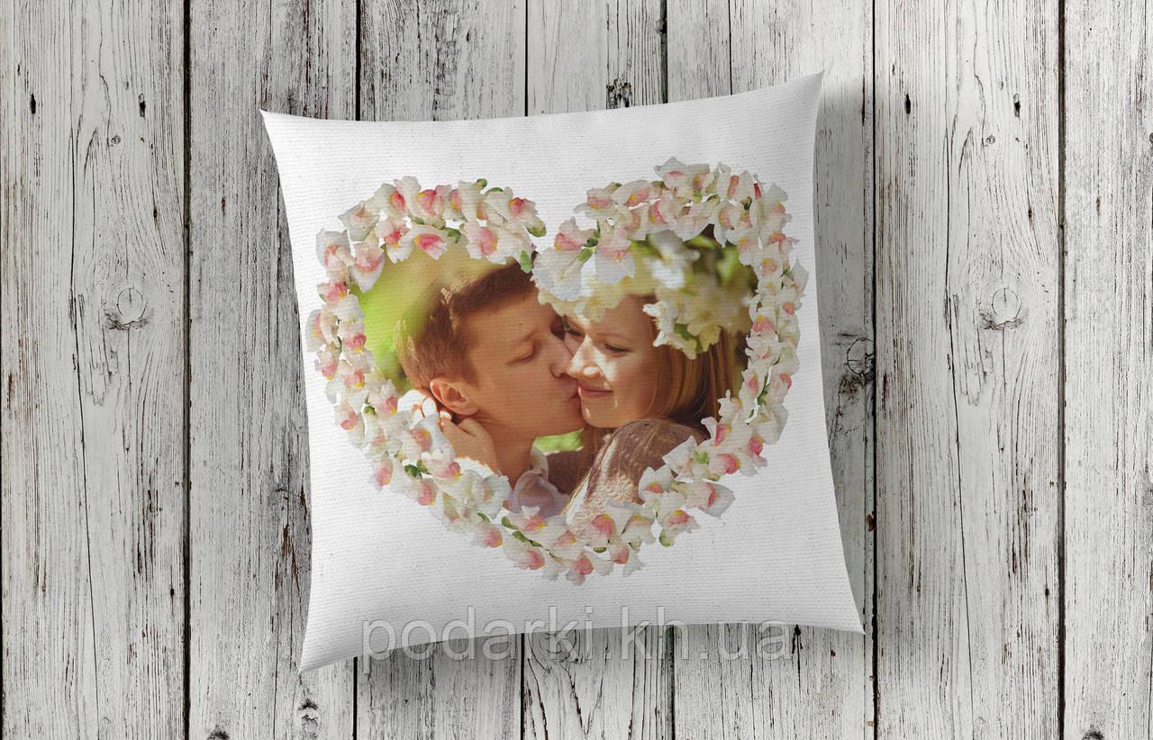Подушка с фото для влюбленных