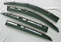 Дефлекторы окон ветровики на SSANGYONG СангЙонг санг йонг Korando ASP с молдингом нержавеющей стали