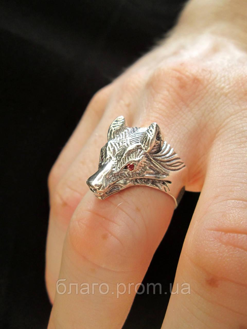 Серебряный перстень Волк.