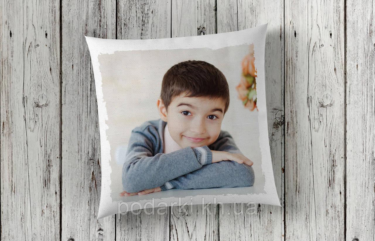 Декоративная подушка с фото