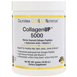 California Gold Nutrition, Коллаген UP ™ 5000, пептиды коллагена, полученные из морских источников + гиалуроно