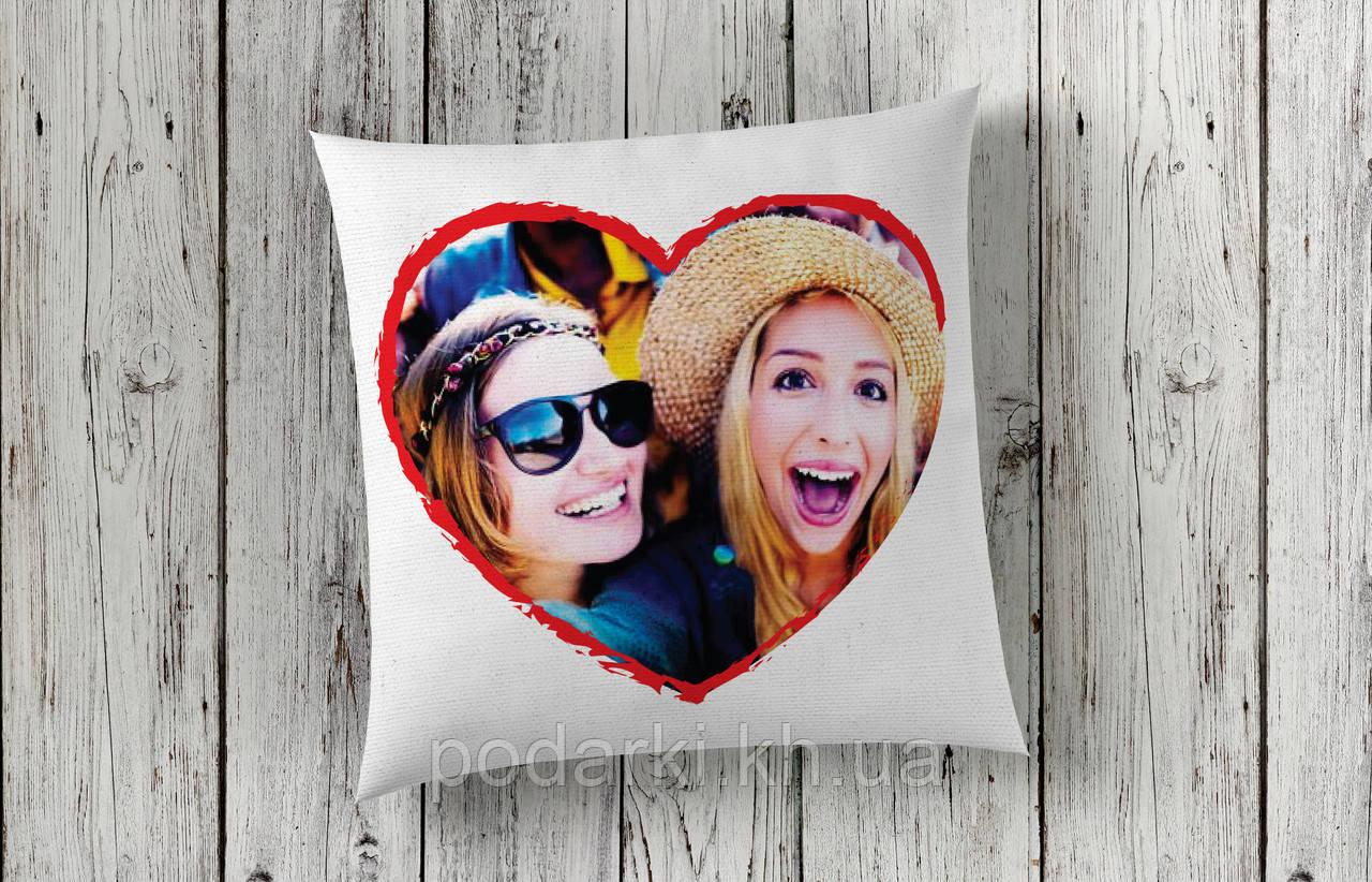 Подушка с фотографией для подруги