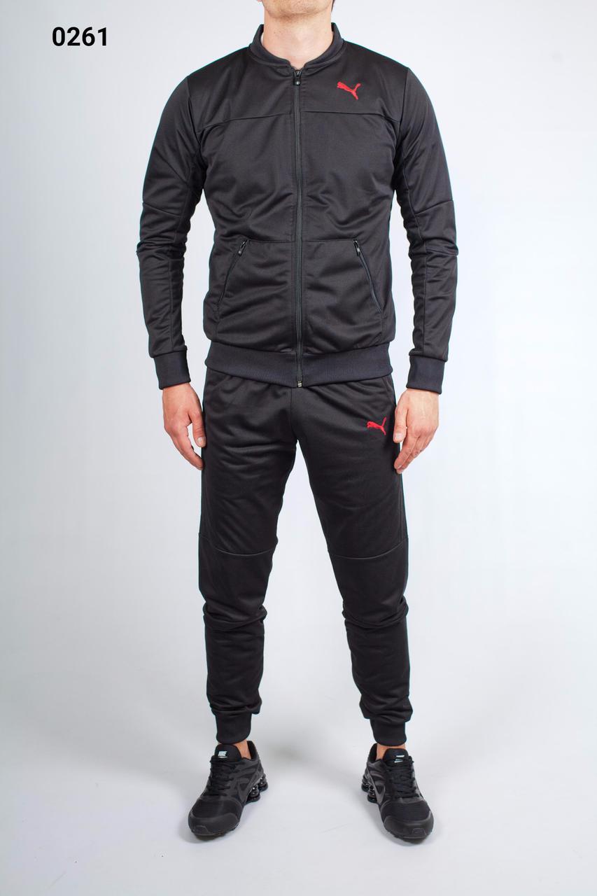 922149548431 Спортивный костюм мужской Puma 8930-01 черный 0261 (РЕПЛИКА) - Интернет  Магазин