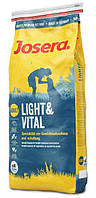Josera Light and Vital 15 кг - корм с ягненком для малоактивных собак