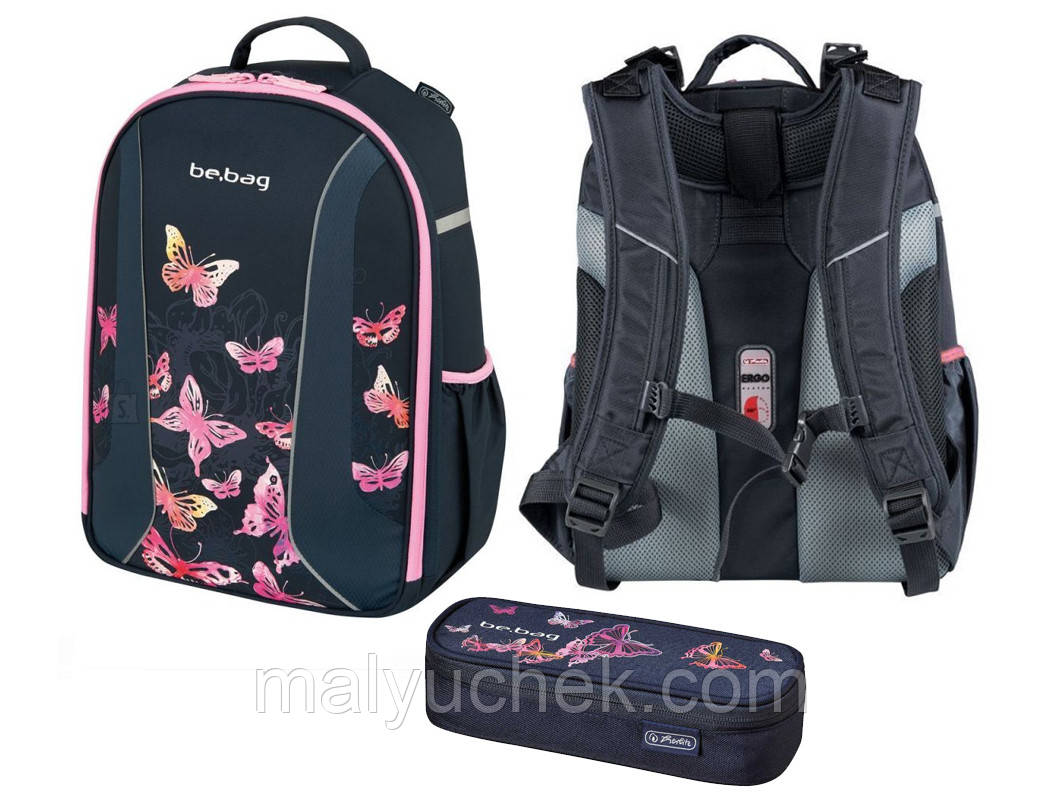 6c17650eed44 Рюкзак Herlitz Be.Bag Airgo Butterfly плюс пенал (6782149644), цена 2 650  грн., купить в Киеве — Prom.ua (ID#679973465)