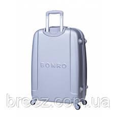 Чемодан Bonro Smile набор 3 штуки серебряный , фото 2