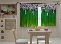 Фотоштора Ламбрекены из цветов в кухню