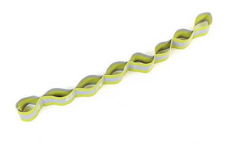 Лента гимнастическая 8 петель зеленая, фото 2