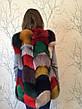 Жилетка разноцветная из меха песца  SV 202, фото 3