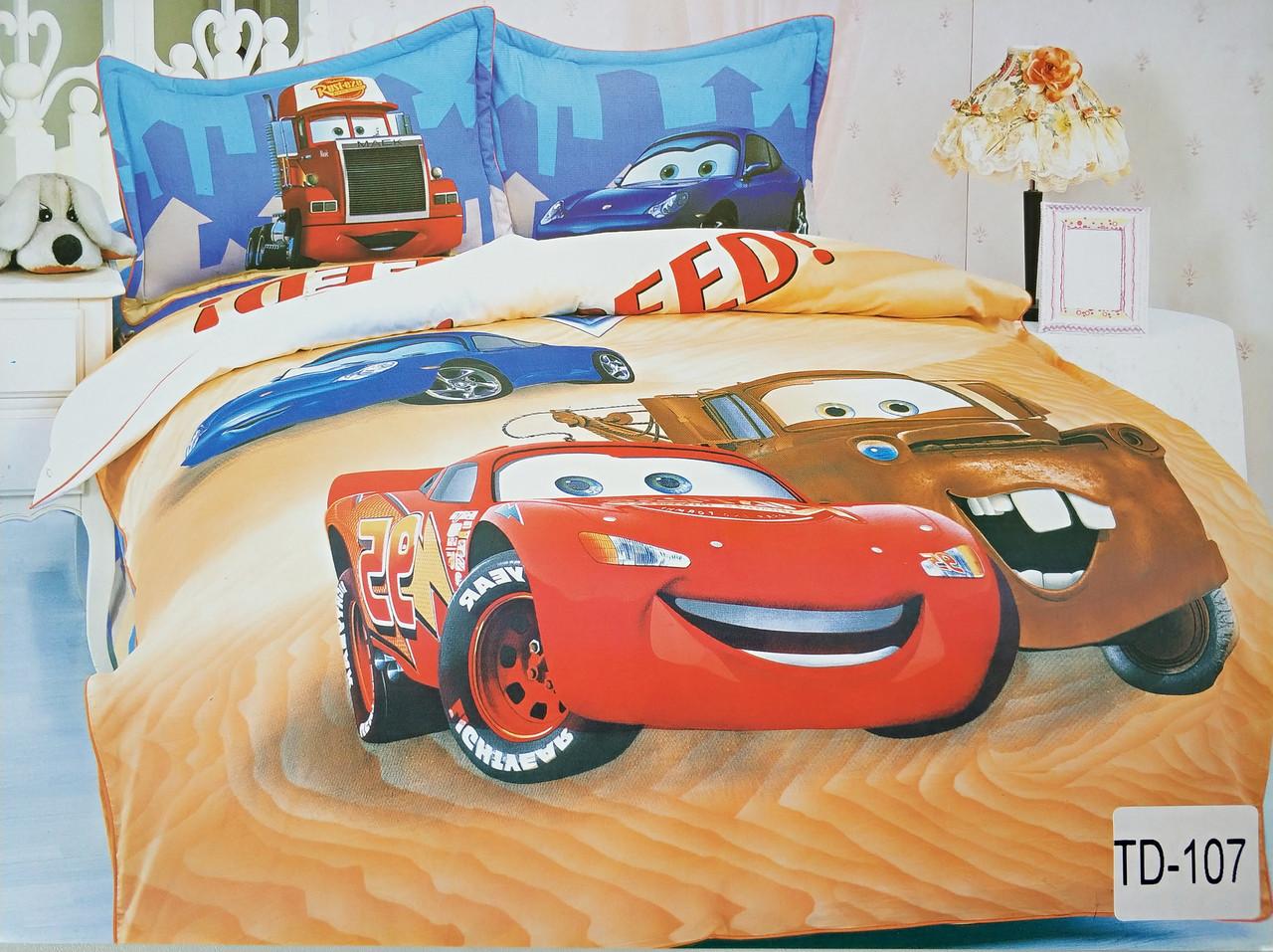Детское сатиновое постельное белье Elway 3D TD-107