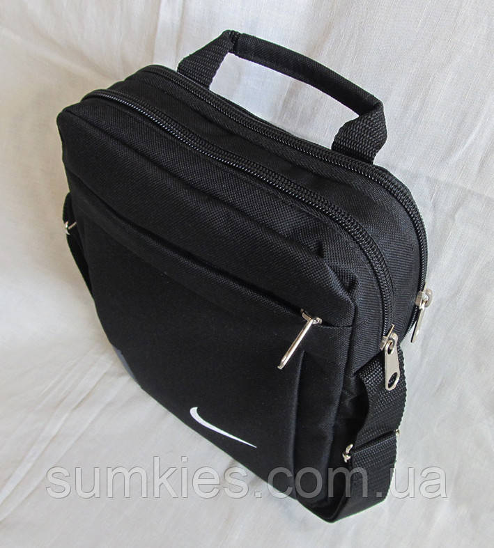 5e9c2e7cdf23 Мужская сумка через плечо барсетка спортивная черная с серым 26х21х8см,  цена 178 грн., купить в Харькове — Prom.ua (ID#679911500)