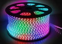 Светодиодная лента 5050 60 диодов на метр 220В RGB