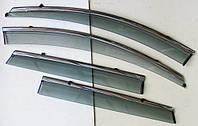 Дефлекторы окон ветровики на RENAULT Рено Kadjar 2015+ ASP с молдингом нержавеющей стали