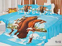 Детское сатиновое постельное белье Elway 3D TD-132 «Ледниковый период»