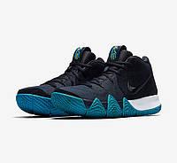 Мужские баскетбольные кроссовки Найк Kyrie 4 Obsidian Black Blue