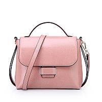 Женская сумка стильная из натуральной кожи розовая опт, фото 1