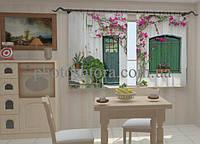 Фотоштора Фасад в цветах для кухни 2