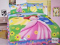 Детское сатиновое постельное белье Elway 3D TD-143