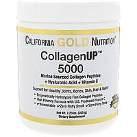 California Gold Nutrition, Коллаген UP 5000, пептиды коллагена, полученные из морских источников + гиалуронова