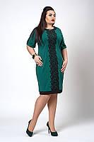 Платье  мод 706-1 размер 50,52,54 изумруд