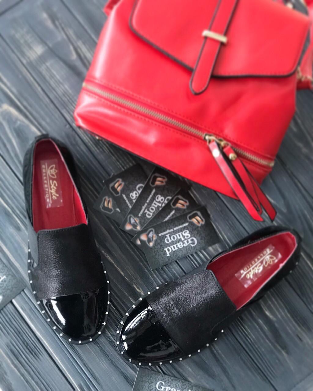 4c82acf81 Женские кожаные туфли на низком каблуке - Интернет-магазин